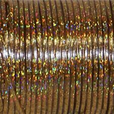 50 YARDS (45m) SPOOL GOLD HOLOGRAPHIC BRITELACE REXLACE PLASTIC LACING CRAFTS