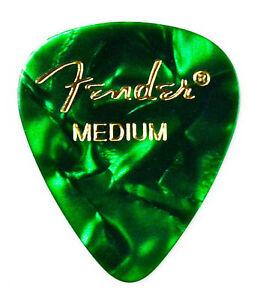 Green Guitar Pick Lapel Pin - QHG2