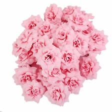 100pcs Artificial Fake Mini Rose Silk Flower Head for Wedding Party Home Decor