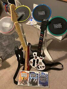 Wii rock band bundle.