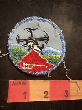 Vintage & Well Used HELICOPTER Patch 91J