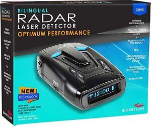Whistler - Bilingual Laser Radar Detector with Internal GPS - Black