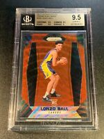 LONZO BALL 2017 PANINI PRIZM #289 RUBY WAVE REFRACTOR ROOKIE RC BGS 9.5