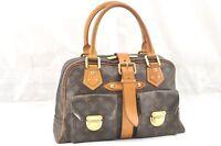 Authentic Louis Vuitton Monogram Manhattan GM Hand Bag M40025 LV 59017
