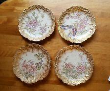 "Antique Coiffe Factory Hand Painted Limoges Set of (6) 7"" Dessert/Salad Plates"