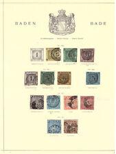 Baden - gut bestückte Sammlung auf Schaubek-Blättern Mi. über 750,- €