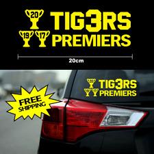 3 x TIGERS 2017 2019 2020 Premiers sticker 20cm AFL Richmond FC yellow car decal
