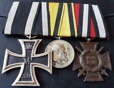 ✚6936✚ German mounted medal group Iron Cross Wurttemberg Merit Medal Honour WW1
