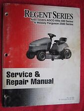 REGENT, AGCO ALLIS 500 SERIES & MASSEY 2500 SERIES, LAWN TRACTOR SERVICE MANUAL