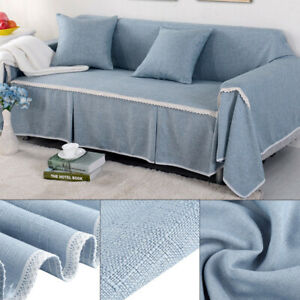3 Seater Sofa Covers Elastic Stretch Settee Slipcover Mat Soft Protector Couch