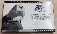 2008 US MINT SILVER QUARTER PROOF SET - Complete w/ Original Box and COA