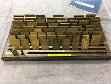 New Hermes Brass Font Condensed Block 35 023 With Birch Wood Holder Complete