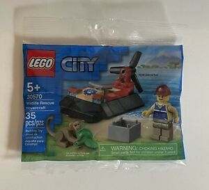 Lego Wildlife 30570 Rescue Hovercraft w/ Mini Figure + Monkey NEW Sealed Polybag