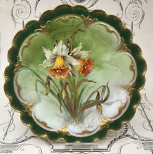 Assiette Porcelaine Goa Jonquille Fleurs Vintage French Plate Sping Flower