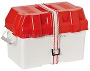 Leisure Battery Box 100 Amp Red + Straps Caravan/Camper/Boat/Motorhome 32x17x19
