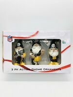 Pittsburgh Steelers Gnome Ornament Set STEELERS Foco GNOME 3 PACK NEW ORIG BOX