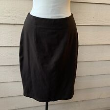 Eileen Fisher Brown Pencil Straight Stretchy Skirt Women's Sz S