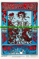 "Rare, GRATEFUL DEAD Skeleton Roses Concert Poster Extra Large REPRINT 20""x30"""
