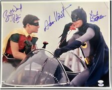 "Batman and Robin Adam West & Burt Ward 16"" x 20"" Photo cast signed x2 UACC RD"