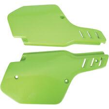 Ufo Seitenteile Seitendeckel grün side cover Kawasaki KX 500 88-02