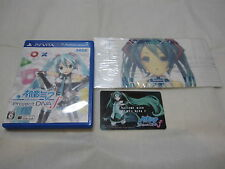 Card + Protection Sticker. PS VITA Hatsune Miku Project Diva f Japanese Version