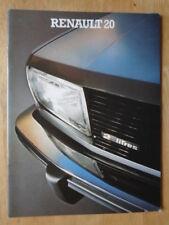 RENAULT 20 RANGE orig 1979 1980 UK Mkt Sales Brochure - LS TL TS