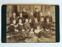 Large Victorian Cabinet Card Photograph (CDV) -  Scottish School Group - Glasgow
