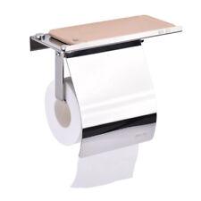 Stainless Steel Wall Mounted Bathroom Toilet Paper Holder Rack Tissue Roll Shelf