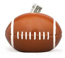 "Ceramic Football Bank Piggy Bank Ball 5"" High Saving Money Home Decoration"