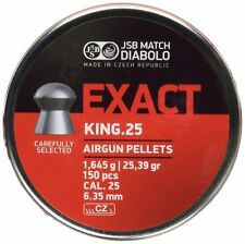 JSB exacte King heavy pellets .25 air rifle target shooting