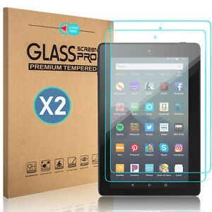 For Amazon Fire 7 2019 2017 / HD 8 2018 Tablet Tempered Glass Screen Protector