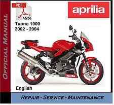 Aprilia Tuono 1000 2002 - 2004 Workshop Service Repair Manual