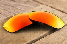 Bright Fire Red Iridium Polarized Mirrored Replacement Lenses for Oakley Jawbone