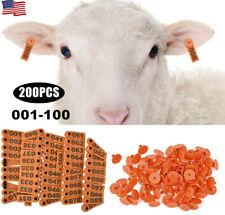 200pcs Plastic Livestock Ear Tag Animal Tag For Goat Sheep Pig Livestock 001 100