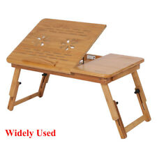 Folding Laptop Desk Adjustable Computer Table Stand Tray Bed Sofa Leisure Table Bamboo2