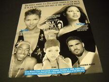 Soul Train 2000 Promo Poster Ad Halle Berry Toni Braxton Sisqo Pink Ashemar