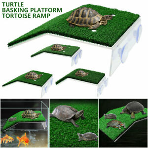 Turtle Basking Platform Ramp Reptile Tank Ladder Resting Terrace Simulation AU