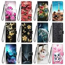 For LG/Motorola/Alcate Magnetic Flip Leather Card Slots Bumper Stand Case Cover