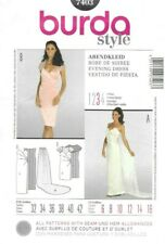 Burda Sewing Pattern 7403, Sizes 6-16, Evening or Wedding Dress and Train, New