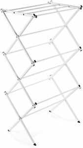 Polder Two Tier Clothes Drying Rack with Mesh Cover Silver