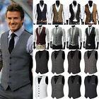 Moderno Hombre Vestido Formal Negocios Camiseta Traje Entallado Esmoquin Chaleco