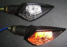 ►2X SUZUKI RF600R,AN650A,VS750GLP,VL800 LED CARBON SPEAR IRIDIUM E-MARK BLINKER
