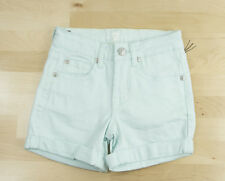 7 For All Mankind Mint Green Stretch Denim Jeans Shorts Size 7