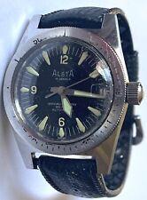 Vintage Alsta Diver Nautoscaph Automatic 999 Feet Runs