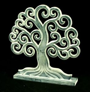 Tree Of Life Ornament Grey Shabby Chic Freestanding Plaque Christmas Gift Idea
