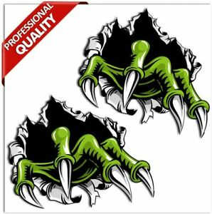 2 Monster Horror Nails Scary Stickers Auto Moto Bike Car ATV Truck Tuning B 135