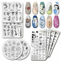 PICT YOU Nail Stamping Plates Characters Line Pattern Nail Art Templates Tips