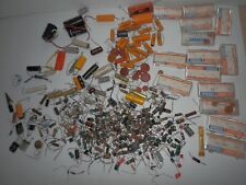 Vintage Lot of Capacitors Sprague Mixed Other Misc - some boxed Flat Ceramic