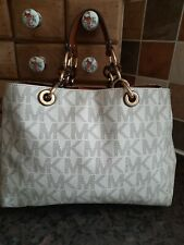 Michael Kors Logo Saffiano Leather Grab Bag No Long Strap