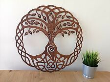 Rusty Metal Tree of Life Wall Art 20 inch / Rusty Art / Celtic Gift / Pagan Gift
